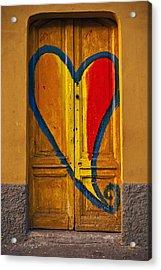 Door With Heart Acrylic Print