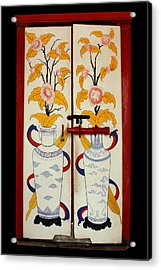 Door With Two Vases Acrylic Print by Ty Lee
