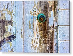 Door With Weathered Paint Acrylic Print