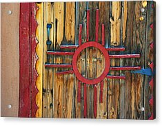 Door With Zia Acrylic Print