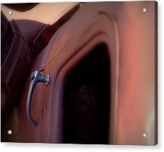 Acrylic Print featuring the photograph Doorhandle Nostalgia.. by Al Swasey