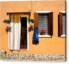 Doors And Windows IIi Burano Italy Acrylic Print by Carl Jackson