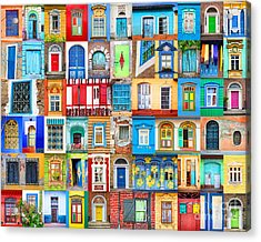 Doors And Windows Of The World Acrylic Print