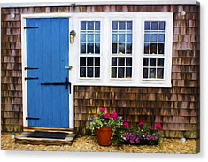 Blue Door - Doors And Windows Series 01 Acrylic Print