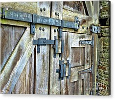 Doors At Caerphilly Castle Acrylic Print
