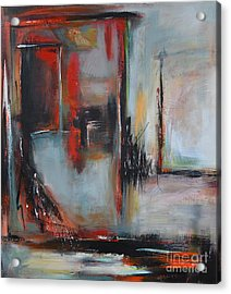 Acrylic Print featuring the painting Doors by Cher Devereaux