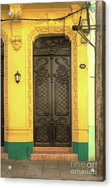 Doors Of Cuba Yellow Door Acrylic Print