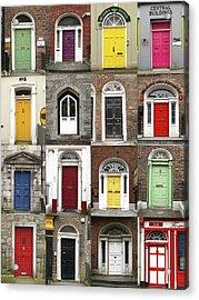 Doors Of Limerick Acrylic Print by Marie Leslie