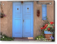 Doors, Peppers And Flowers. Acrylic Print