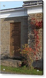 Acrylic Print featuring the photograph Doorway At The Stone House - Photograph by Jackie Mueller-Jones