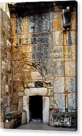 Doorway Church Of The Nativity Acrylic Print by Thomas R Fletcher