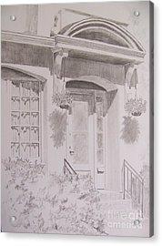 Acrylic Print featuring the drawing Doorway by Jackie Mueller-Jones