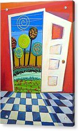 Doorway To Somewhere Acrylic Print by Anne Nye