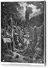 Dor�: Valley Of Dry Bones Acrylic Print by Granger
