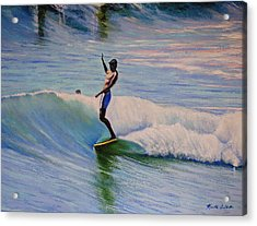 Dora Acrylic Print by Kenneth DelGatto