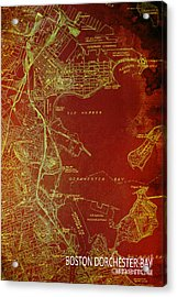Dorchester Bay Old Map Acrylic Print