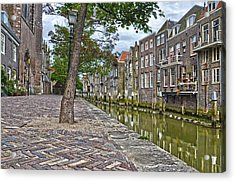 Dordrecht Behind The Church Acrylic Print
