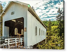 Dorena Covered Bridge Acrylic Print