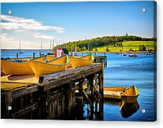 Dories On The Dock Acrylic Print