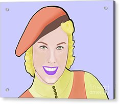 Doris Day Acrylic Print by Naz Cigdem