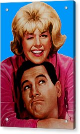 Doris Day Rock Hudson  Acrylic Print by Paul Van Scott