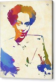 Dorothy Dandridge Watercolor Acrylic Print