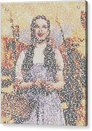Acrylic Print featuring the mixed media Dorothy Made Of Wizard Of Oz Quotes by Paul Van Scott