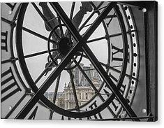 D'orsay Clock Paris Acrylic Print