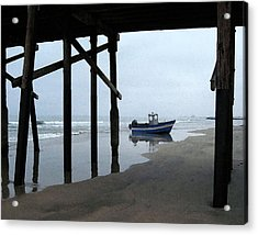 Dory Boat At Newport Beach Acrylic Print