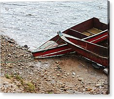 Dos Barcos Acrylic Print by Kathy McClure