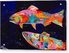 Dos Brown Trout Acrylic Print by Tracy Miller