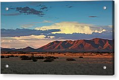 Dos Cabezos Sunset Serenity Acrylic Print