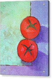 Dos Tomates Acrylic Print by Arte Costa Blanca