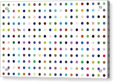 Dots And Dogs Acrylic Print