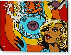 Double Advance - Pinball Acrylic Print by Colleen Kammerer