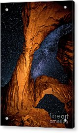 Double Arch And The Milky Way - Utah Acrylic Print