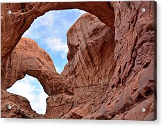 Acrylic Print featuring the photograph Double Arch With Curves by Bruce Gourley