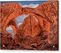 Double Arches At Arches National Park Acrylic Print by Penny Lisowski