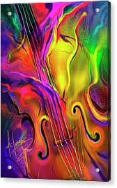 Double Bass Solo Acrylic Print by DC Langer