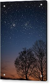 Double Cluster Sunset Acrylic Print by Charles Warren