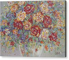 Acrylic Print featuring the painting Double Delight. by Natalie Holland