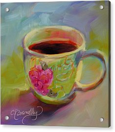 Acrylic Print featuring the painting Double Espresso, Please by Chris Brandley