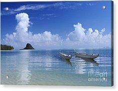Double Hull Canoe Acrylic Print by Joss - Printscapes
