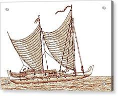 Double Hulled Sailing Canoe Acrylic Print