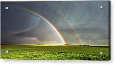 Double Rainbow And Tornado Acrylic Print