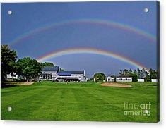 Double Rainbow Acrylic Print by Butch Lombardi