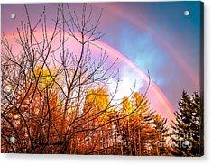 Double Rainbow-hdr Acrylic Print