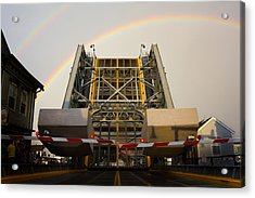 Double Rainbow Mystic Drawbridge Acrylic Print