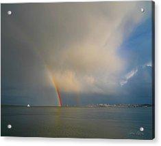 Double Rainbow Acrylic Print by Sabine Stetson