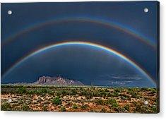 Acrylic Print featuring the photograph Double Rainbow  by Saija Lehtonen